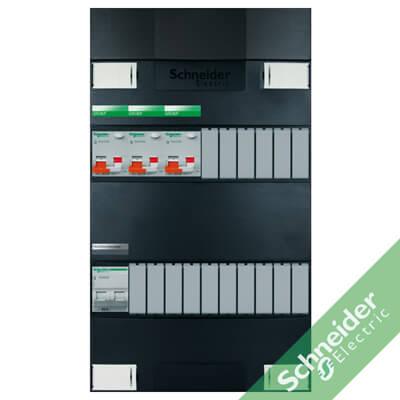 1 fase met aardlekautomaten (alamat) groepenkasten Schneider Electric