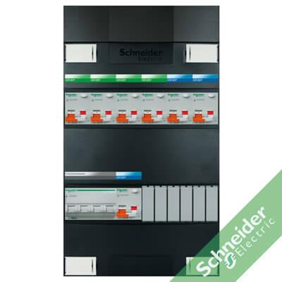 3 fase 7 alamat Schneider Electric groepenkasten