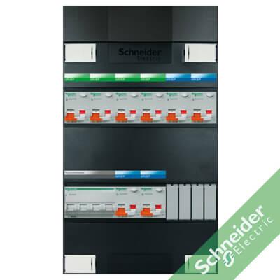 3 fase 8 alamat Schneider Electric groepenkasten