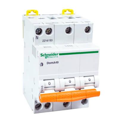 3 polig + nul B 4.5kA installatieautomaten Schneider Electric