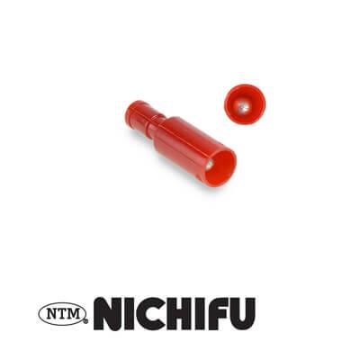 Rood Rondstekker kabelschoen volledig geisoleerd