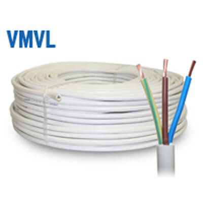 VMVL Wit Snoer H05VV-F 60°