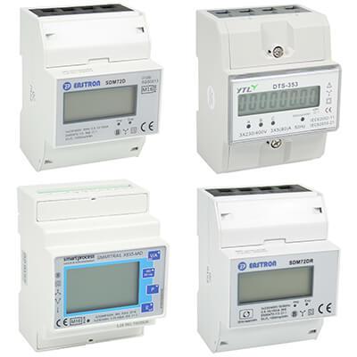 3 fase kWh meters voor Dinrail