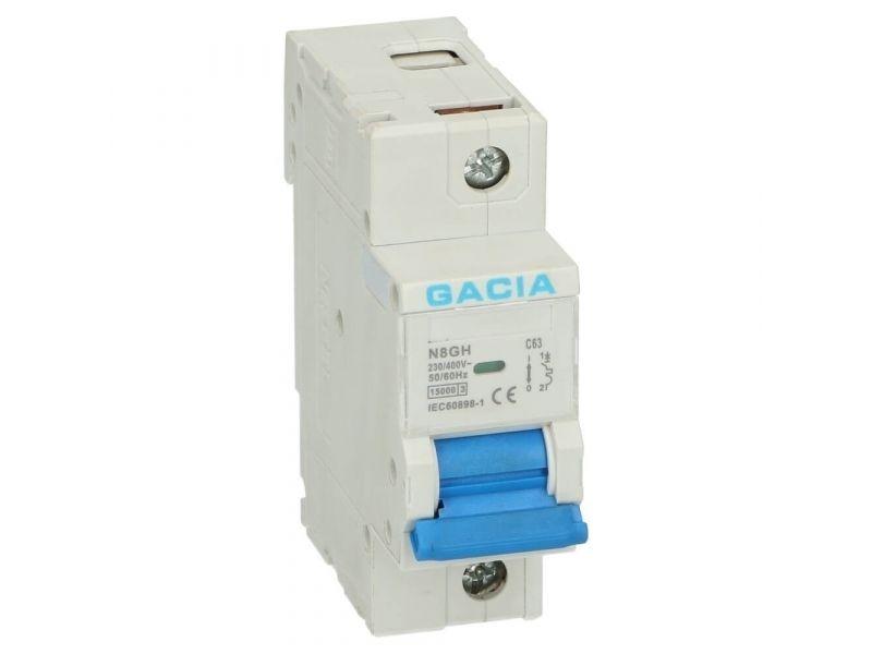 Installatieautomaat 1 polig 125A karakteristiek B 15kA