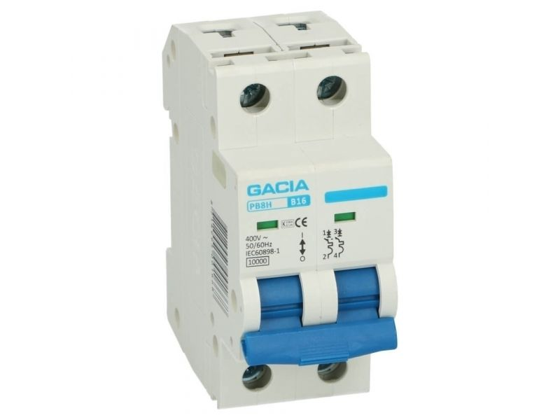 Installatieautomaat 2 polig 63A karakteristiek B 10kA