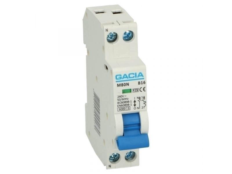 Installatieautomaat 1 polig + nul 10A karakteristiek B 6kA
