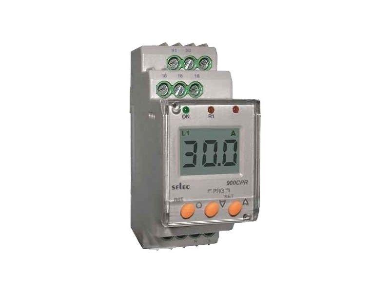 Stroomcontrole relais digitaal 0-999A 1 fase