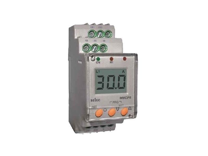 Stroomcontrole relais digitaal 0-999A 3 fase