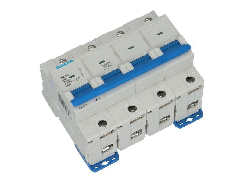 Installatieautomaat 4 polig 80A karakteristiek C 15kA
