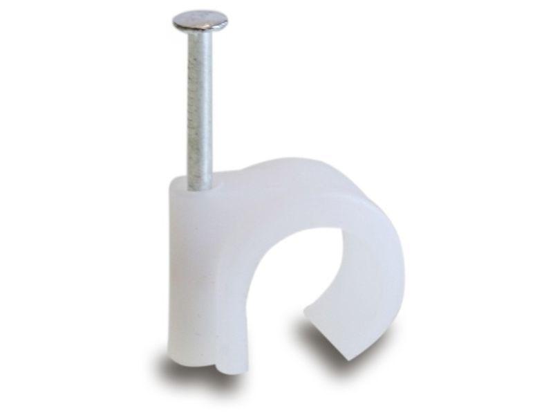 Spijkerclip universeel 8-10mm wit - 100 stuks