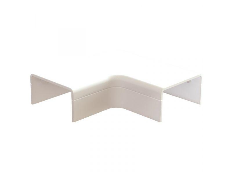 Plattebocht met bodemstuk 25x13mm wit - 2 stuks