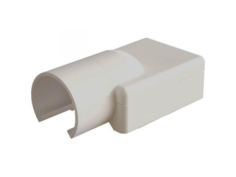 Verloopmof 19mm voor 25x13mm creme - 2 stuks